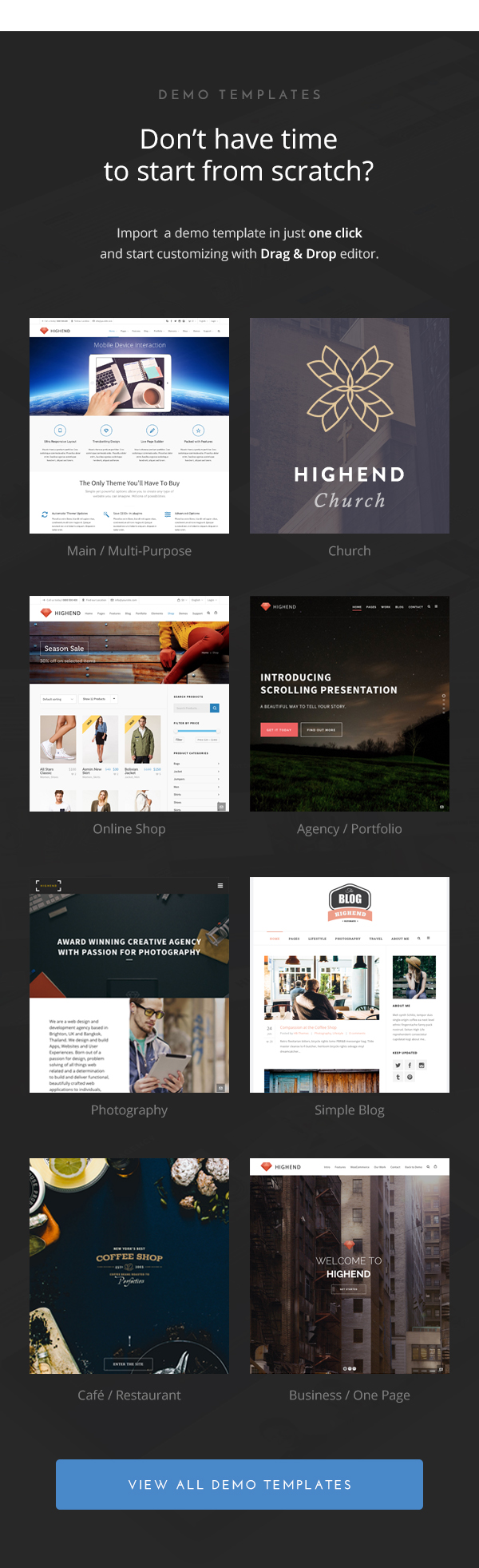 Highend - Ultimate WordPress Theme